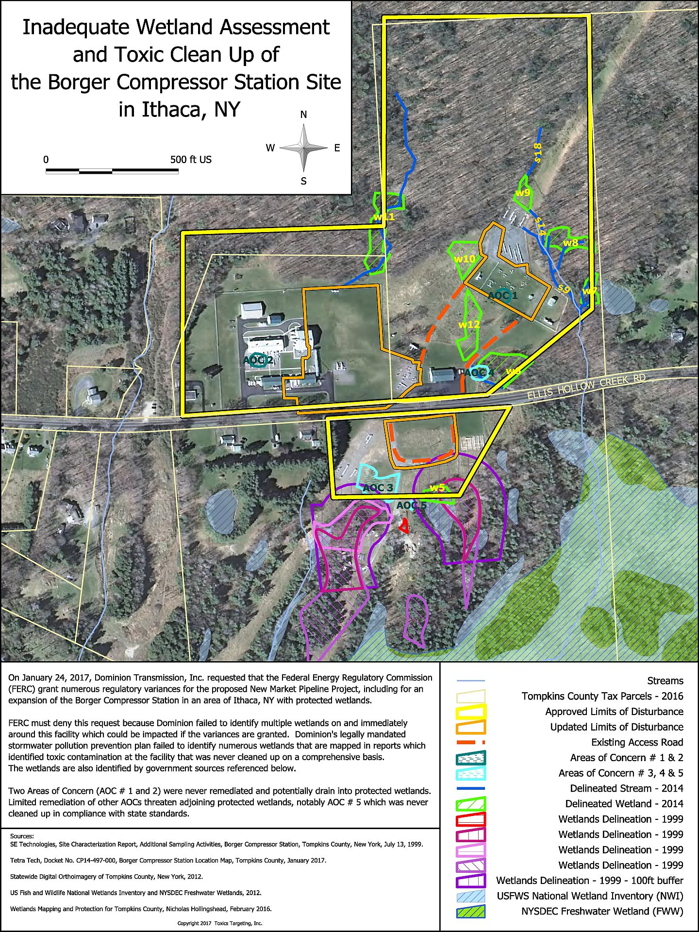 These Wetlands And Buffer Zones Are Located Within The Original As Well As The Proposed Revised Lod Areas See Second Map At Borger Compressor Station Maps